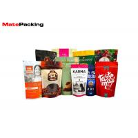 Zipper Custom Printed Stand Up Pouches Plastic Laminated Foil Coffee Bags With Valve Manufactures
