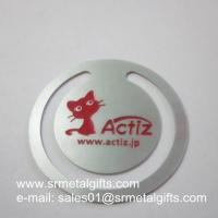 0.3mm Etched Steel Clip Bookmark With Color Fills, Wholesale Etching Bookmark Clips Manufactures