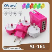 China 2.1A 4 port super fast portable usb travel charger with SAA ROHS FCC CE certificate on sale