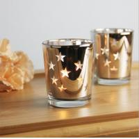 Star candle holder mercury glass candle holder/jar/cup tealight candle holder for wedding gift Manufactures