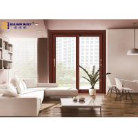 Wood Grain Aluminium Sliding Door Profiles Thermal Break Abrasion Resistant Manufactures