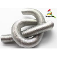 Aluminum Flexible Auto Air Duct Hose , Fiberglass Corrugated Car Engine Hoses Manufactures