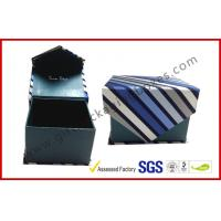 Magnetic Grey Board Apparel Gift Boxes With Silk Cloth Covering , Tie / Perfume / Jewelry Boxes Manufactures