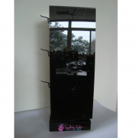 4 sided Turntable Tabletop Display Stand For Accessories Manufactures