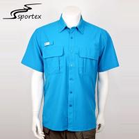 Buy cheap Summer Casual Mens Fishing Shirts XS - 2XL Good Sweat Absorbing Ability from wholesalers