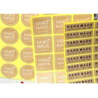 Food Packaging Personalized Sticker Labels Different Color Craft Paper Manufactures