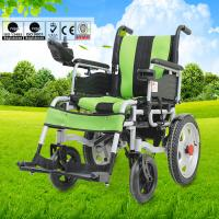 Spray Steel Material Small Electric Wheelchair For Indoors Folding Function Manufactures