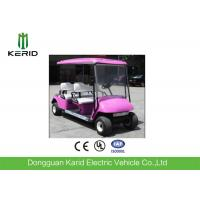Green Energy Pink Color 4 Seater Electric Golf Carts 48V Curtis Controller Electric Transportation Car Manufactures