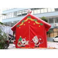Buy cheap Red 0.45mm Plato PVC Tarpaulin Inflatable Christmas Santa House For Decoration from wholesalers