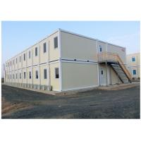 China Solid Flat Pack Prefab Steel Framed Homes For Office Accommodation hotel on sale