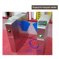 Passage optical Flap Barrier Gate , bi directional Bus half height turnstile sound Alarm Manufactures
