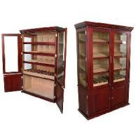 Gem Humidor Cedar Wood Lined Cigar Humidor Cabinet Giant Display Cigar Cabinet with High Gloss Cherry Finish Manufactures