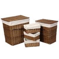China Square Willow basket for living room with liner on sale