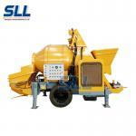 30m3/H Mobile Concrete Mixer , Useful Diesel Automatic Concrete Mixer With Pump Manufactures