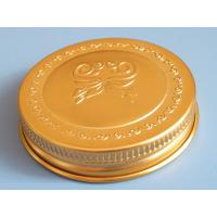 Gold color aluminum jars with slid cap Manufactures