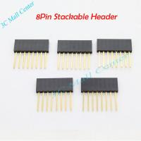 Female 8 pin Stackable Header For Arduino Accessories Manufactures