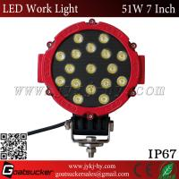 China ATV accessories Aluminum housing 6500K 2900lm flood beam or pencil beam 51W Epistarss LED driving lights on sale