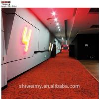 China Chinese red rose romantic design wall to wall nylon room carpet on sale