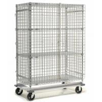 Foldable Stainless Steel Wire Security Storage Truck For Factory Spare Parts Capacity 500-1200kg Manufactures