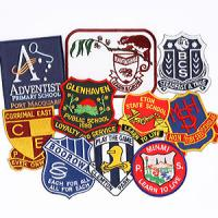 China Embroidery Metal School Badge on sale