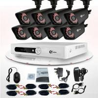 Commercial 8 Channel DVR Surveillance System Wireless IP Camera CCTV KIT Manufactures