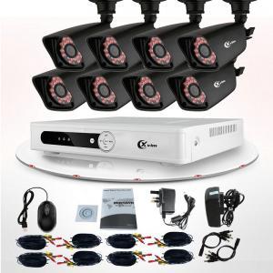 China High Resolution Indoor Bullet 720P 1.0MP Camera DVR 8 Channel CCTV Camera Kit on sale