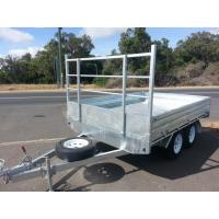 Rocker Roller Tray Top Trailer 10 X 6 Tandem Trailer With 4 Wheel Disc Brakes Manufactures