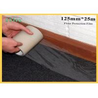 125mm Width Floor Protection Film Anti Dirt Against Wall Painting Manufactures