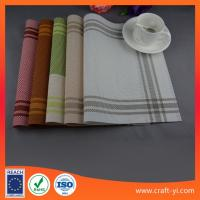 Placemat and coaster set table cloth Textilene mesh fabric table mats supplier Manufactures