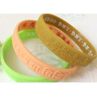 Logo Text Embossed Custmozied Advertising Man Silicone Rubber Wristbands Manufactures
