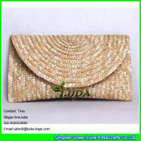 China LDMC-125 natural women handbags wholesale wheat straw braided straw bag on sale