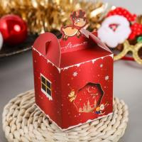 China custom christmas gift cupcake gift paper packaging candy box on sale