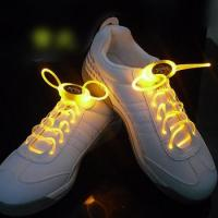 Yellow LED Light Shoelaces Manufactures