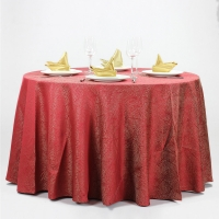 China 100% Polyester Hotel Dinning Wedding Table Linens Logo Print on sale