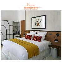 Boutique Holiday Hotel Bedroom Furniture Sets Standard Double Bed Manufactures