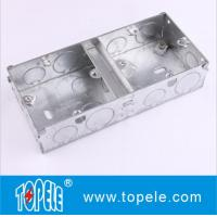 China BS4662 GI Switch One Gang / Two Gang Electrical Boxes And Covers, GI Conduit Boxes on sale