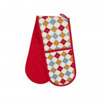 Hand Protect Cotton Double Oven Mitt 17.5 * 80cm Customized Heat Resistant Manufactures