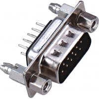 D - SUB Dual Row 9 Pin Male Connector 180°DIP PBT Type Brass 3.0AMP Current Rating ROHS Manufactures