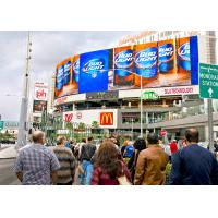 Curved P10 full color outdoor front maintenance outdoor commercial advertising led display Manufactures