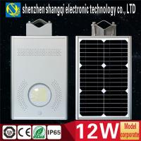 China 12W All In One Solar LED Street Lights Energy Saving For Outdoor Road Lighting on sale