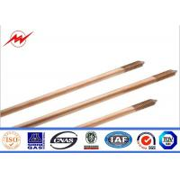 CE UL467 Custom Copper Ground Rod Good Conductivity Used In The Grounding Device Manufactures
