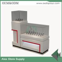 China Watch store display showcase counter design images glass display MDF  cabinet on sale