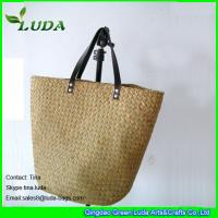 China natural handmade seagrass straw wholesale handbags on sale