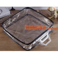 Eco-friendly wholesale travel cosmetic bag clear zipper pvc cosmetic bag for women Manufactures