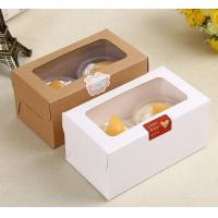 Lovely Paper Dessert / Bakery Packaging Boxes With Clear Window Eco Friendly Manufactures