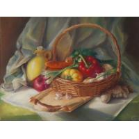 Diamond Painting Still Life Signed Fruit Still Life Oil Painting Manufactures