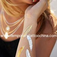 NEW gold&silver flash tattoo glitter metallic temporary tattoo,new and high quality tattoo Manufactures