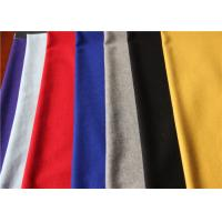 Anti Pilling Colorful Flannel Wool Fabric 60 Wool 40 Polyester 380g Per Meter Hat Dress Skirt Manufactures