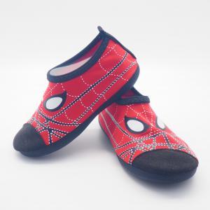 Convenient Kids Aqua Water Shoes Spider Man Cartoo Pattern Size 21 - 33 Manufactures