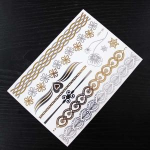 Glitter / Flash Metal Body Makeup Hair Tattoo Sticker Fashion Semi Permanent Manufactures